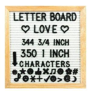Gray letter board